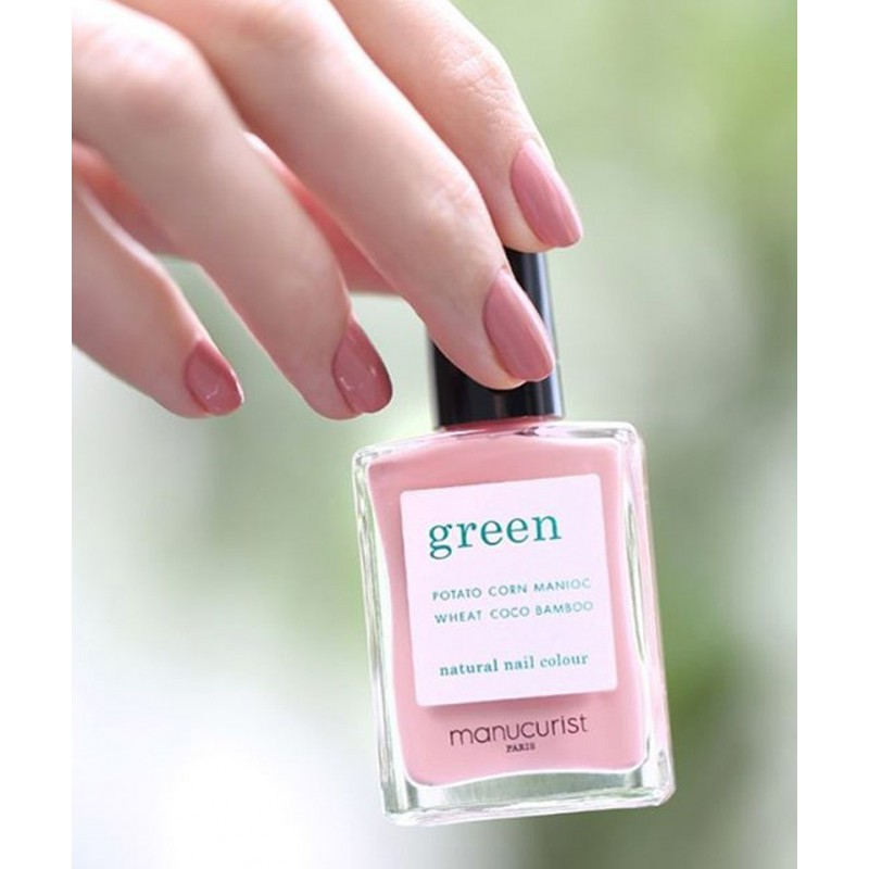 Manucurist Paris - Vernis GREEN Old Rose naturel beauté vegan ongles swatch