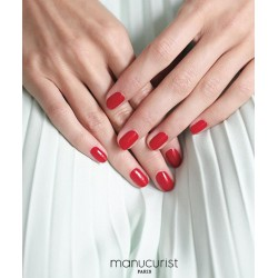 MANUCURIST  GREEN Vernis Red Cherry rouge cerise naturel swatch