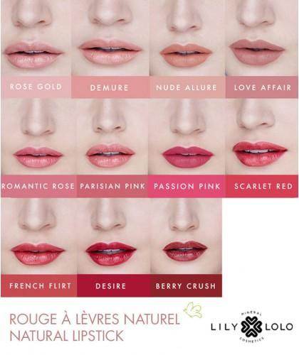 Rouge à Lèvres Naturel Lily Lolo swatch maquillage minéral couleurs teintes palette collection