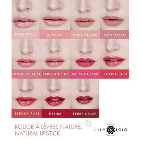 Lily Lolo Rouge à Lèvres Naturel Natural Lipstick swatch collection teinte