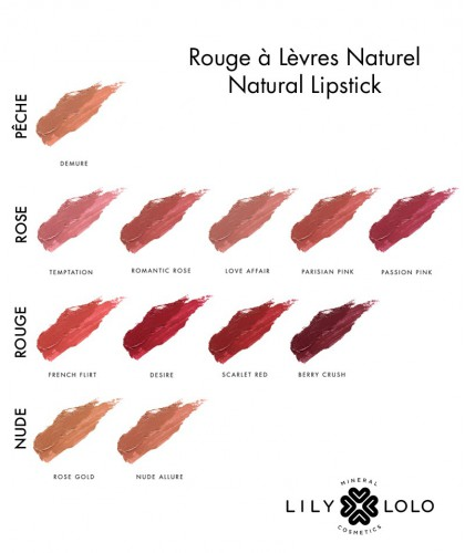 Lily Lolo Natural Lipstick swatch collection