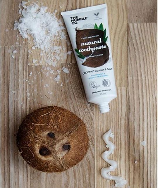 Humble Brush Dentifrice bio Noix de Coco & Sel 100% naturel