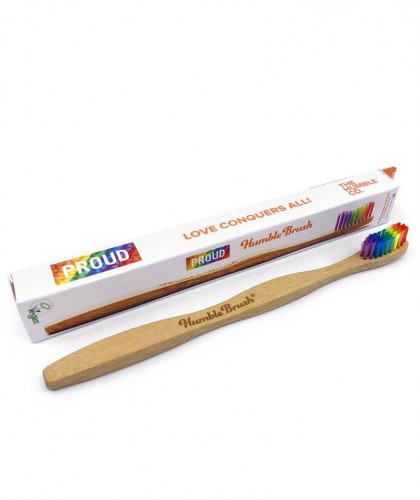 Humble Brush Brosse à Dents en Bambou Adulte - arc-en-ciel Proud Edition
