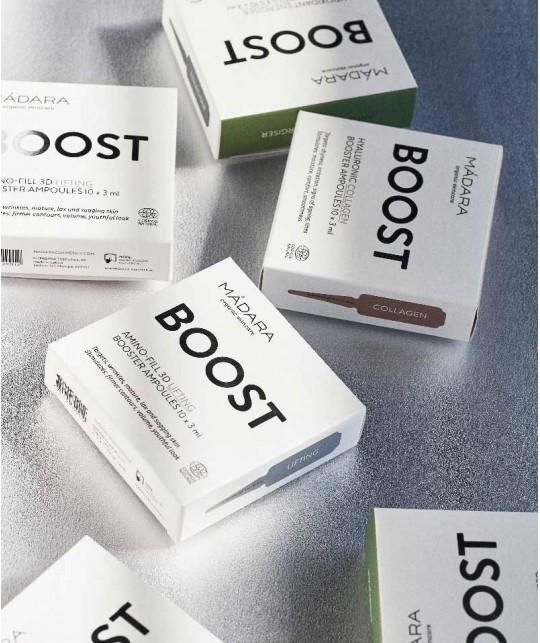 Madara cosmétique Ampoules Amino-Fill 3D Lifting bio BOOST cure de soin