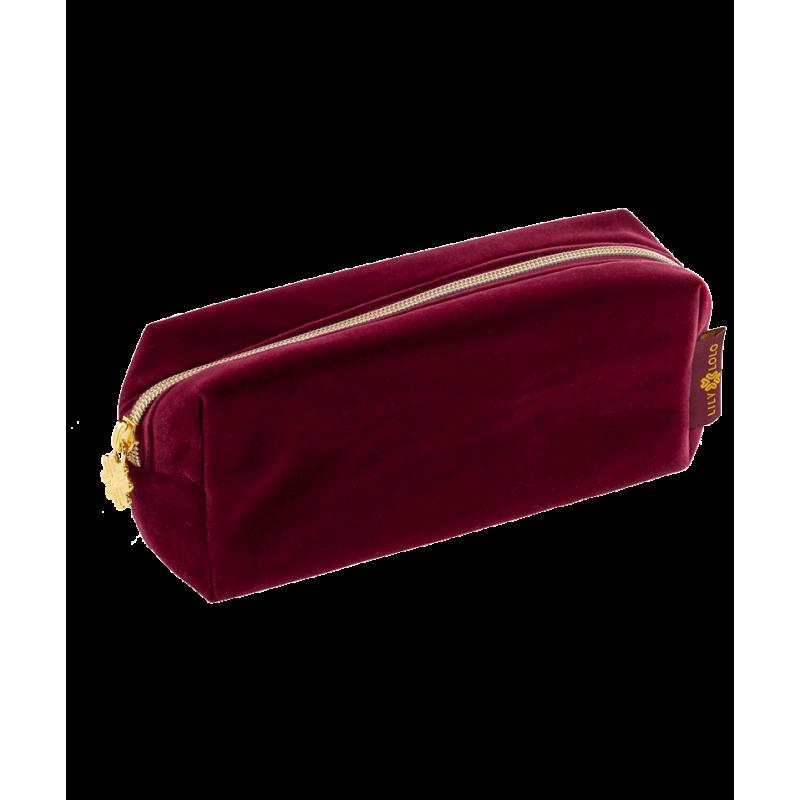 Lily Lolo Trousse de Maquillage velours rouge bordeaux edition limitée