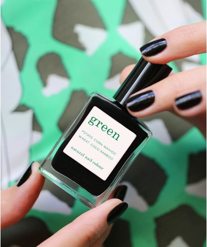 Manucurist Paris Nail Polish GREEN Licorice black swatch