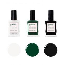 Manucurist Vernis GREEN Coffret Automne Hiver 2019 Milky White Emerald Licorice