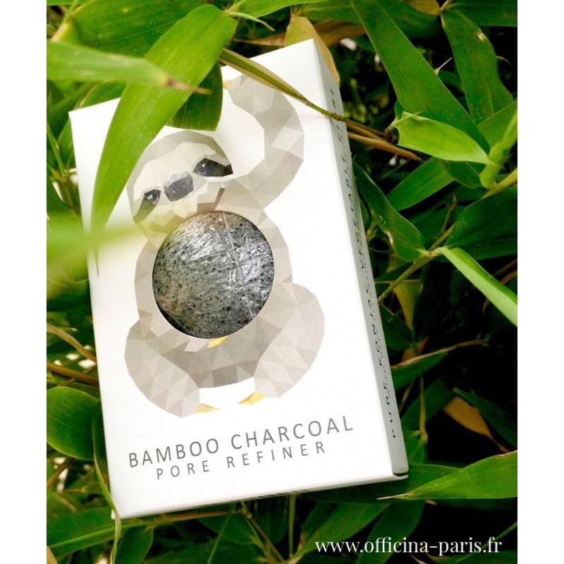 Mini éponge Konjac noire Charbon de Bambou (peaux acnéiques) The Konjac Sponge Co vegan