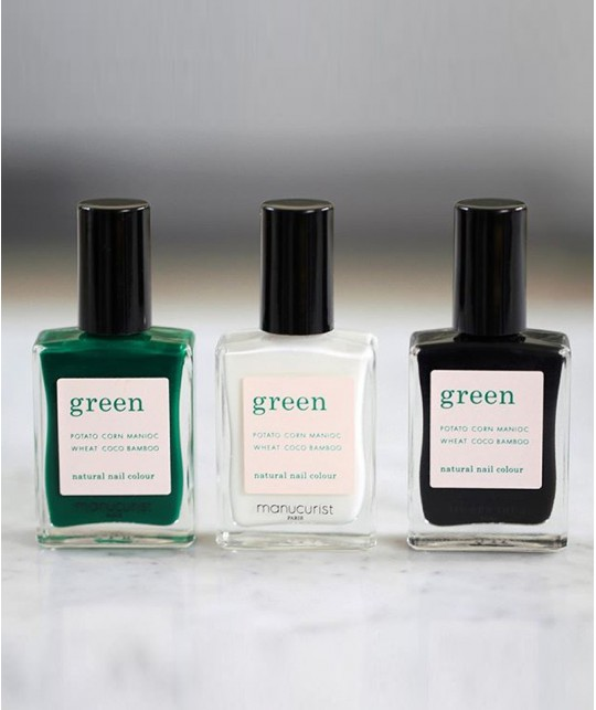 Emerald Milky White Licorice Manucurist Paris Nail Polish GREEN Box Autumn Winter