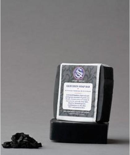Soapwalla Activated Charcoal & Petitgrain Soap Bar vegan acne