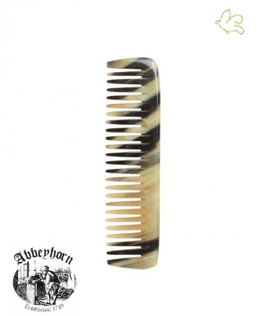 Peigne en corne Abbeyhorn mini  (9 cm) fait main bébé poche