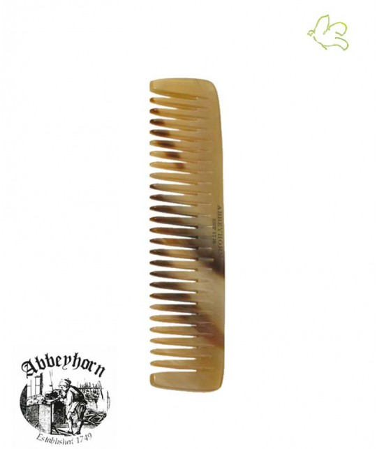 ABBEYHORN Small Horn Pocket Comb single tooth 10,8 cm