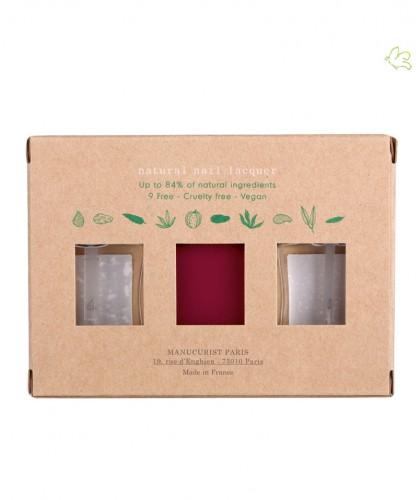 Manucurist Paris - Coffret Green Three Steps Violeta - Vernis à Ongles naturels GREEN