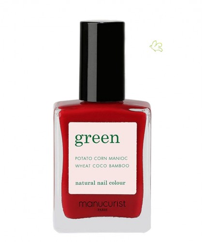 Manucurist Paris - Vernis GREEN Dark Dahlia rouge foncé naturel