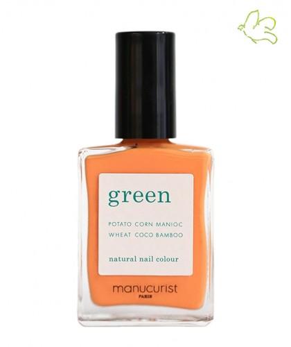 Manucurist Nail Polish GREEN Cosmos natural orange color