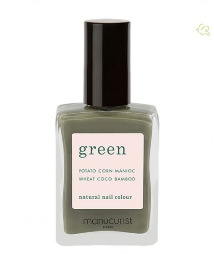 Vernis GREEN Manucurist ongles naturel Khaki vegan swatch manucure