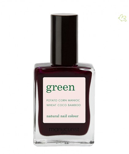 Manucurist Vernis Green Hollyhock rouge et noir vegan Ongles Naturel