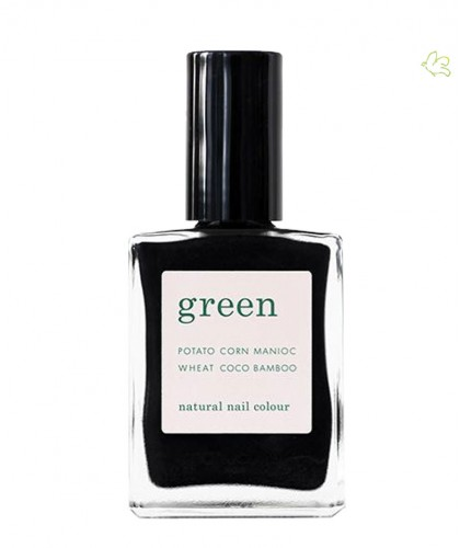 Manucurist Paris Nail Polish GREEN Licorice black