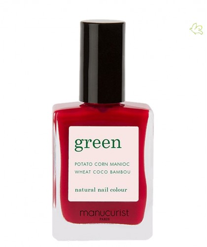 MANUCURIST Paris - Vernis GREEN Pomegranate rouge naturel carmin