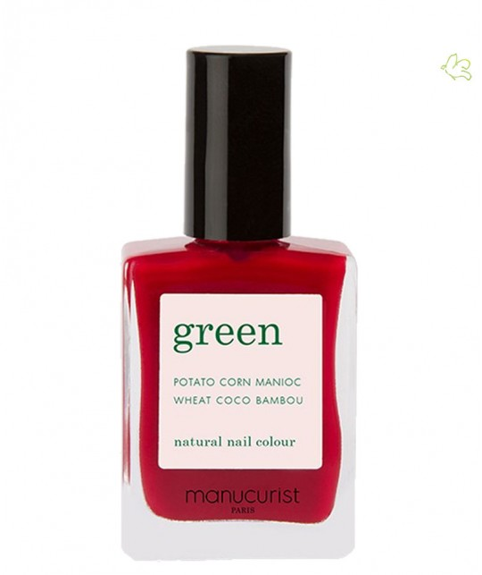Manucurist Paris Nail Polish GREEN Pomegranate Red