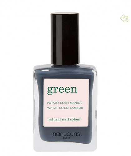 MANUCURIST Paris - Vernis  GREEN Poppy Seed gris Ongles naturel ardoise cruelty free