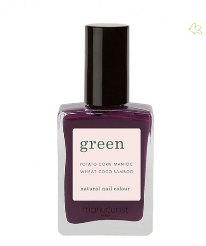 Manucurist Paris - Vernis GREEN Purple Spinel violet naturel mauve ongles vegan cruelty free