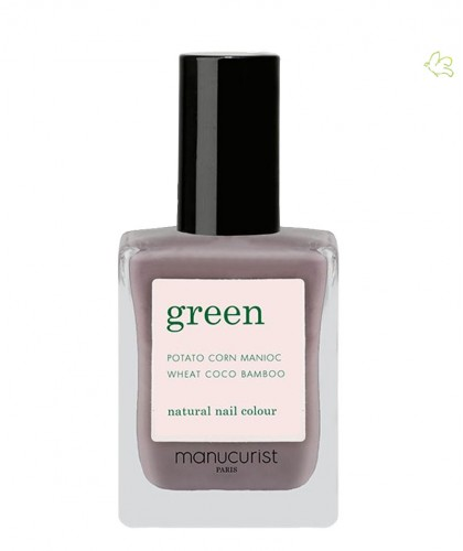 Manucurist Paris - Vernis GREEN Slate gris tourterelle ongles naturel beige vegan