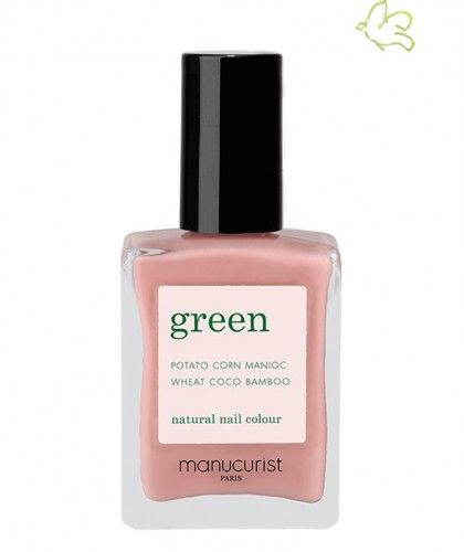 Manucurist Paris Nail Polish GREEN Old Rose Pink dusty