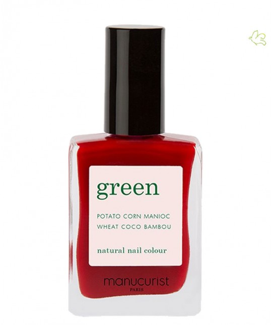 MANUCURIST Paris - Vernis  GREEN Red Cherry rouge cerise ongles naturel