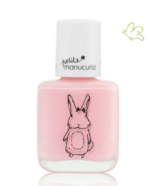 Petite Manucurist Kid Safe Nail Polish shimmery baby pink ROSIE the Rabbit