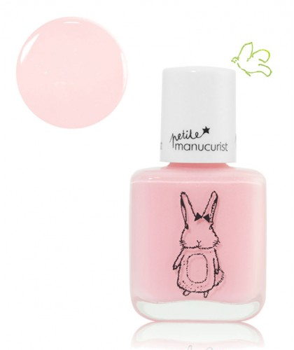 Petite Manucurist Kid Safe Nail Polish shimmery baby pink ROSIE la Lapine