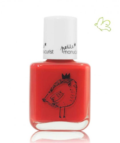 Kids Safe Nail Polish non toxic Petite Manucurist colors red LUCETTE the Warbler