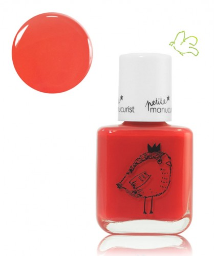 Petite Manucurist Kid Safe Nail Polish colors red LUCETTE the Warbler