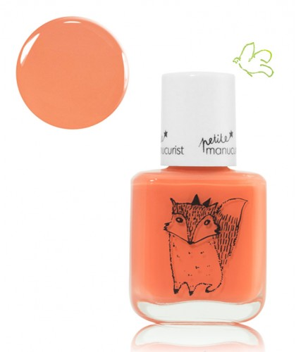 Petite Manucurist Kid Safe Nail Polish orange LEONIE la Renarde Made in France