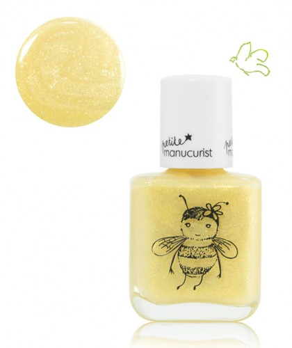 Petite Manucurist Kid Safe Nail Polish PIA l'Abeille shimmery yellow gold