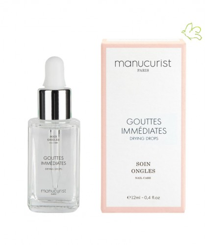 Drying Drops Manucurist Paris nails top coat Gouttes Immédiates vegan