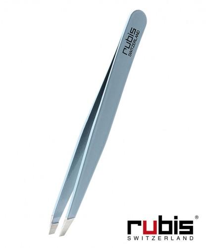 RUBIS Switzerland Pinzette Classic schräg - Hellblau Beauty Kosmetik Augenbrauen