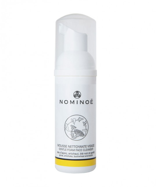 NOMINOE Gentle Foam Face Cleanser organic cosmetics from Brittany