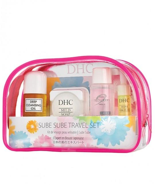 DHC - Kit Voyage trousse Sube Sube Skincare soin visage rituel beauté japonais peau veloutée nettoyer hydrater protéger