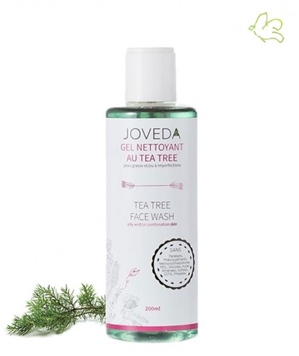 Joveda Tea Tree Face Wash acne oily skin ayurvedic skincare