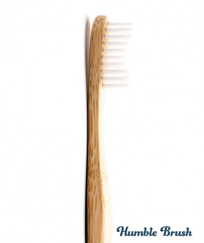 Humble Brush Bamboo Toothbrush Adult - white Soft Nylon bristles Vegan
