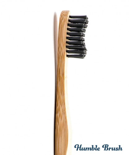 Humble Brush Bamboo Toothbrush Adult - black Soft Nylon bristles Vegan
