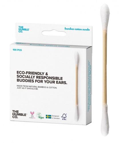 Wattestäbchen aus Bambus und Bio Baumwolle The Humble Co. umweltfreundlich