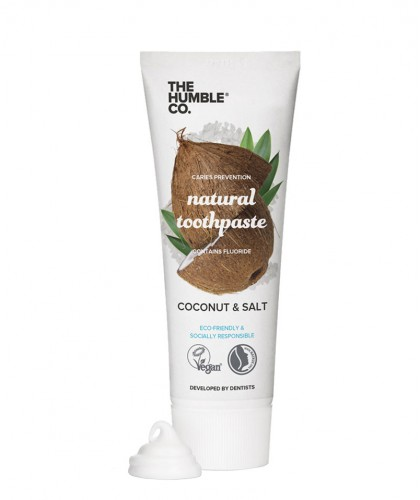 Humble Brush Natural Toothpaste Coconut & Salt with fluoride