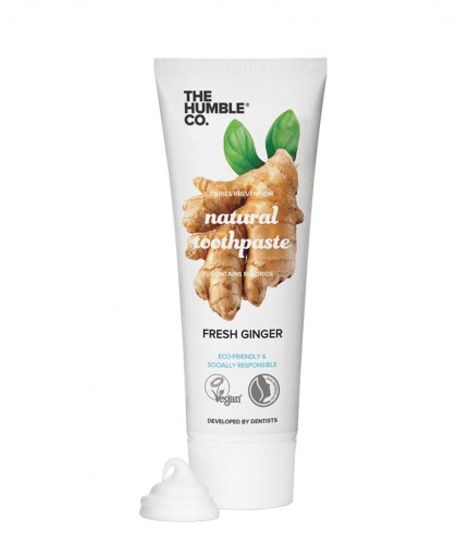 Humble Brush Natural Toothpaste Fresh Ginger with fluoride vegan