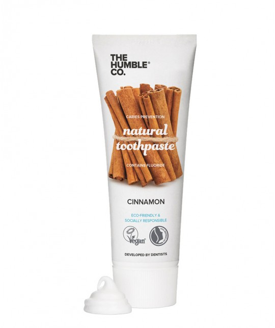 Humble Brush Natural Toothpaste Cinnamon with fluoride vegan