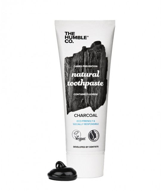 Humble Brush Natural Toothpaste Charcoal Zahnpasta Aktivkohle Fluor