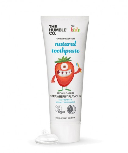 Humble Brush Dentifrice Naturel Enfant Goût Fraise Vegan cruelty free fluor