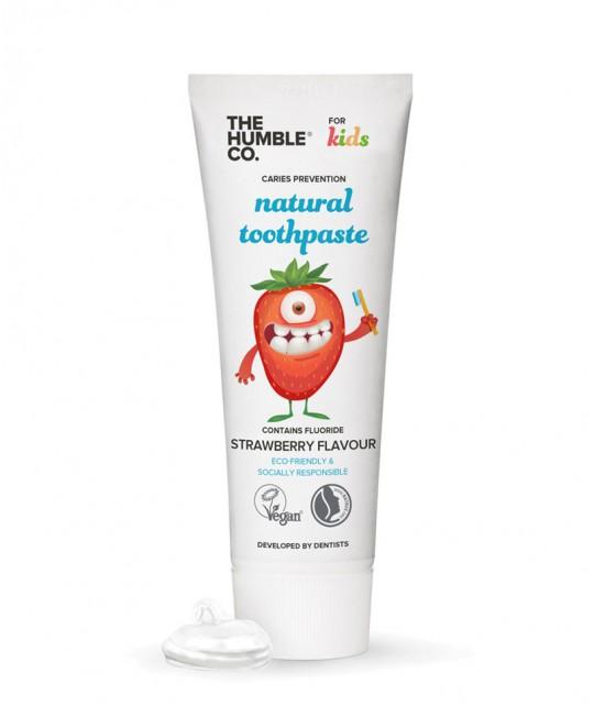 Humble Brush Kinderzahnpasta Erdbeere Natural Toothpaste vegan cruelty free Fluor