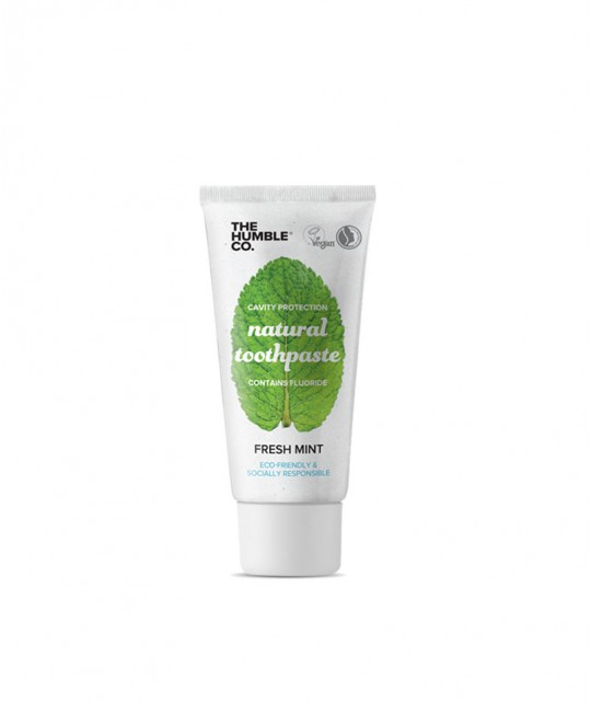 Humble Bush Natural Toothpaste Fresh Mint with fluoride 10ml travel size